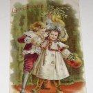 "Vintage Postcard ""Greetings"" Little Boy & Girl"