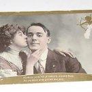 """Vintage Postcard """"Honey you a Sweet Boy""""  Woman Kissing Man"""