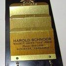 Harold Schnoor Walnut Grove Feeds Scribner NE Letter Holder Advertisement