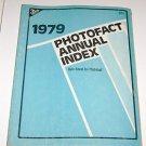 Sams 1979 Photofact Annual Index
