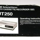 RCA Video Cassette Recorder VHS Operating Instructions