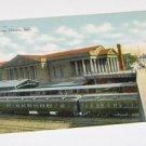 Vintage Postcard Burlington Railroad Train Station Omaha Nebraska 1911