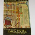 Vintage Postcard YMCA Downtown Chicago Map