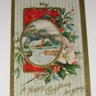 Vintage Christmas Postcard Rural Setting 1910