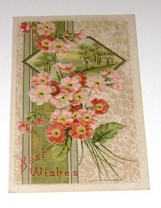 """Vintage Postcard """"Best Wishes""""  early 1900's"""