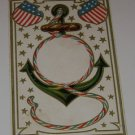"""Vintage Postcard """"American Flags"""" Anchor design early 1900's"""