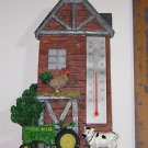 John Deere Tractor Thermometer w/Cow