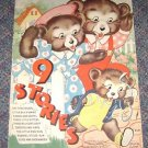 Vintage Childrens Book 9 Stories Merrill Publishing Co 1938 No 3441