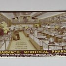 Vintage Postcard Pharmacie Montreal Pharmacy PM'd 1937