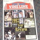 Chicago Vine Line Cubs Magazine December1993 Year in review Cover