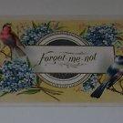 "Vintage Postcard Forget Me Not ""Birds & Flowers"" on embossed card PM'd 1910"
