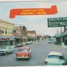 "Old Postcard Dalhart Texas ""main street"" 1961 postmark"
