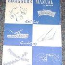 Star Book No 62 Beginners Manual Knitting Crocheting Tatting magazine 1949