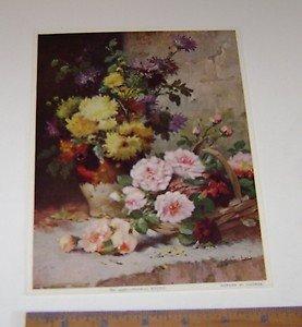 """Cauchois """"Floral Study"""" No 4336 art print"""