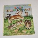 """A Little Golden Book """"Baby Farm Animals"""" 1958"""