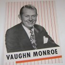 Vaughn Monroe Pictorial Booklet by Program Publishing