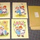 (4) raggedy ann 8 X 10  color prints  1973