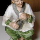 Vintage Napcoware Japan Porcelain Elder Oriental Woman Figurine with Tea