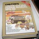 Chilton's Truck and Van Repair Manual 1975 - 82