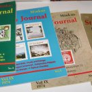 Lot of (4) Minkus Stamp Journal 1973 - 74