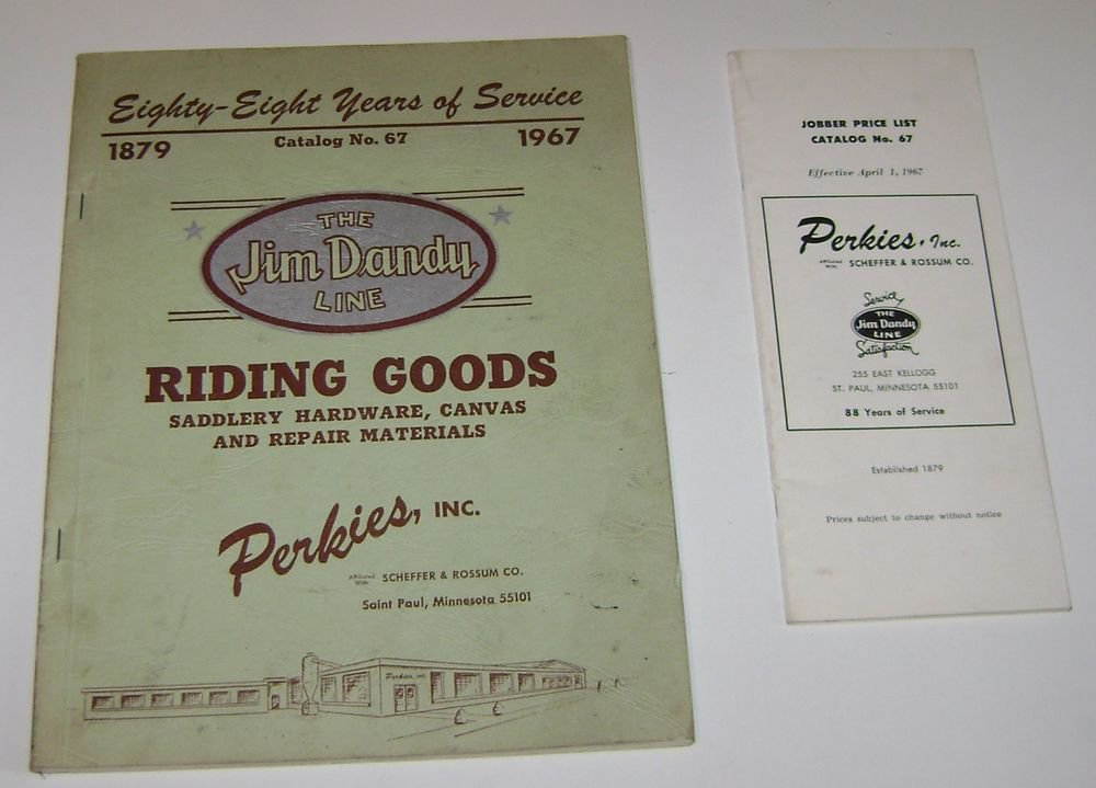 The Jim Dandy Line Riding Goods Catalog No 67 Perkies INC 1967