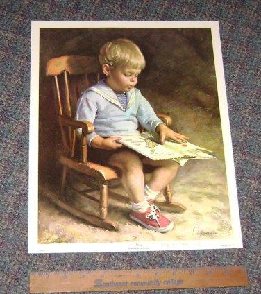 """JAMES INGWERSEN Art Print """"Child Reading"""""""