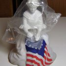 Vintage Avon Betsy Ross Flag Bicentennial Figurine Perfume Decanter Bottle