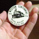 Weston Nebraska Centennial 1976 Pinback Button