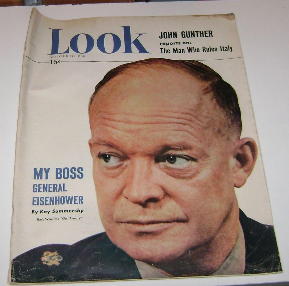 Look Magazine Oct 12 1948 General Eisenhower Cover