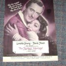 """The Perfect Marriage"" Movie Magazine Ad Loretta Young David Niven"