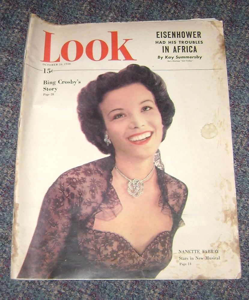 Look Magazine Oct 1948 Nanette Fabray Cover George Ratterman Football Article