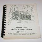 Mounds Creek Methodist Church Cookbook Arena Wisconsin 1977