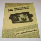 Spraying Systems Co Sprayer Control Owner's Manual 744