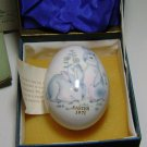 NORITAKE 1971 BONE CHINA EASTER EGG HAND PAINTED RABBITS