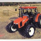 Zetor Range 1 Super Tractors Implement sales brochure