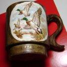 "Craft Painted Coffee Cup ""DUCKS"" Albion Ne 1872 - 1972 by M Hinze Loretto Ne"
