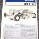 Fiat Allis 261-B Elevating Tractor Scraper Sales/Spec Sheet