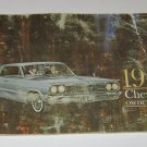 1964 Chevrolet Owners Guide