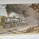 1973 Baltimore and Ohio Railroad Company RAILROAD PRINT BY HARLAN HINEY