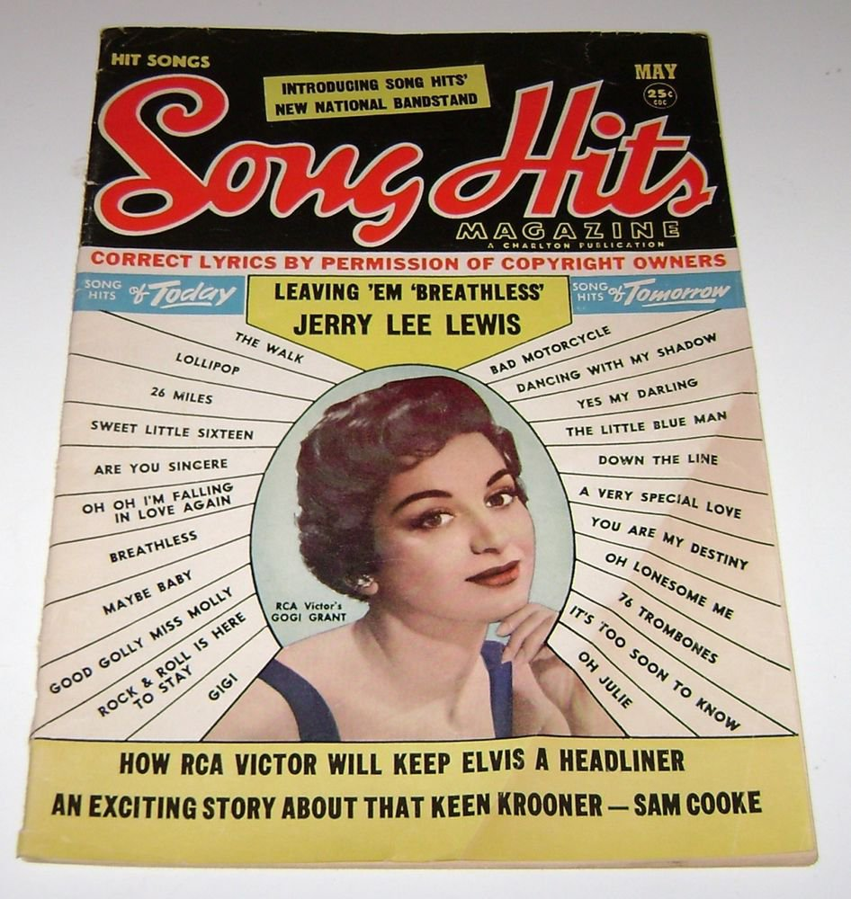 Song Hits 1958 Gogi Grant Cover