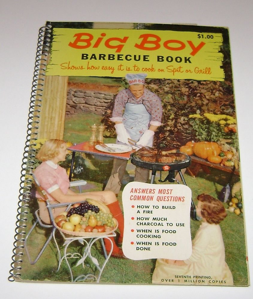 Big Boy Barbecue Book Cookbook 1960