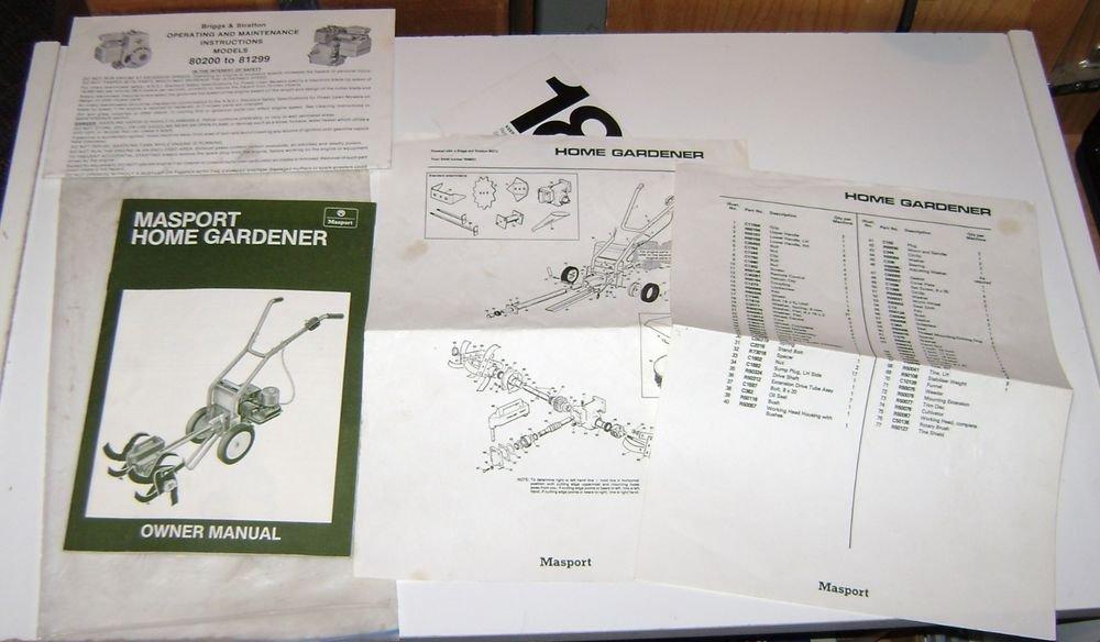 Massport Home Gardening Manual & other information 1980