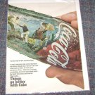 """1968 Coca Cola """"Things Go Better With Coke""""  Magazine Ad"""