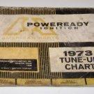Poweready Ignaition 1973 Tune Up Chart