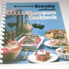 Everyday & Gourmet Microwave Cookbook by Marlene Leising 1983