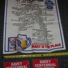 Davey Nebraska Centennial Poster and Decals 1986