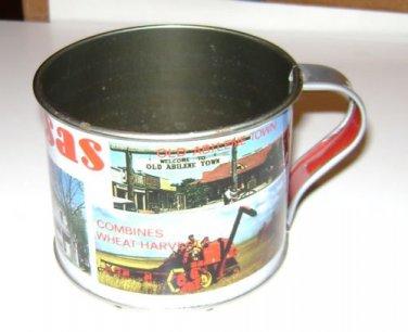 "Tin Cup Souvenir ""KANSAS"" Feat Abilene & Eisenhowers Home"