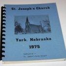 St Joseph's Church York Nebraska Cookbook 1975