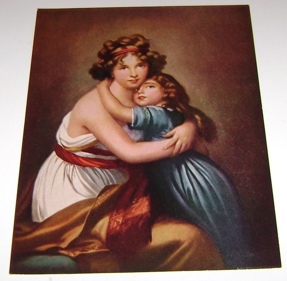 F.A Owens Print Art Madame Le Brun & Daughter by Vigee Le Brun