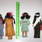 (6) Native American Indian Dolls